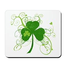 Cool St Patricks Day Shamrock Mousepad