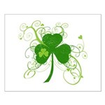 St Paddys Day Fancy Shamrock Small Poster