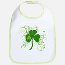 Cool St Patricks Day Shamrock Bib