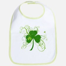 St Paddys Day Fancy Shamrock Bib