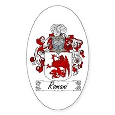 Romani Coat of Arms Oval Decal