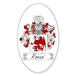 Romani Coat of Arms Oval Sticker