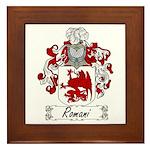 Romani Coat of Arms Framed Tile