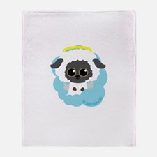 """lamb angel"" Throw Blanket"
