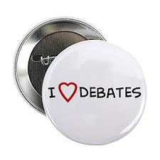 I Love Debates Button