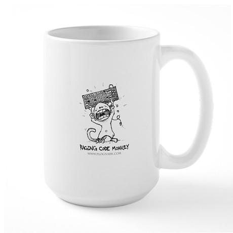 raging_code_monkey_cafepress_white_bordered Mugs