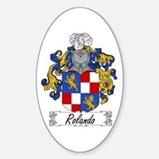 Rolando Coat of Arms Oval Decal