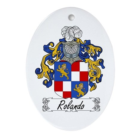 Rolando Coat of Arms Oval Ornament