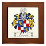 Rolando Coat of Arms Framed Tile