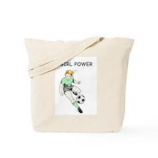 Girl Power, Green Tote Bag