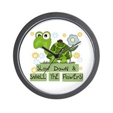 Turtle Slow Down Wall Clock