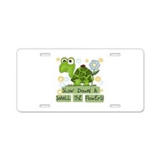 Turtle Slow Down Aluminum License Plate