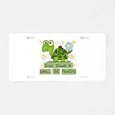 Turtle Slow Down Aluminum License Plate