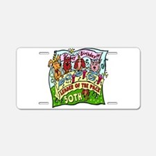 50th Birthday Aluminum License Plate