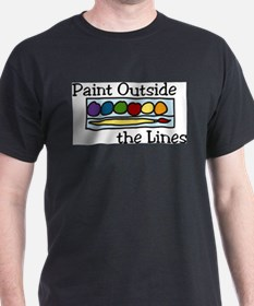 Paint Outside The Lines T-Shirt