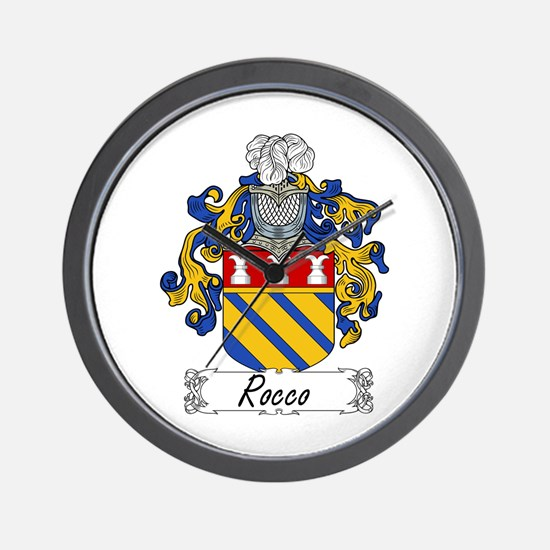 Rocco Coat of Arms Wall Clock