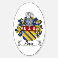 Rocco Coat of Arms Oval Decal
