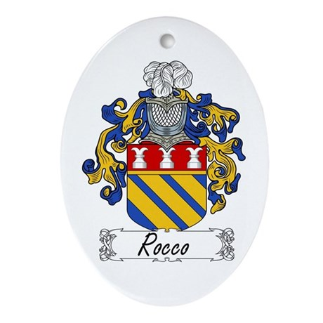 Rocco Coat of Arms Oval Ornament