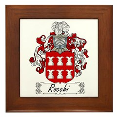 Rocchi Family Crest Framed Tile