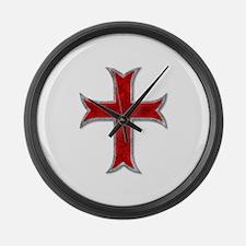 Templar Cross Large Wall Clock