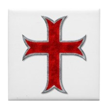 Templar Cross Tile Coaster