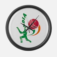 Cricket India Large Wall Clock