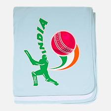 Cricket India baby blanket