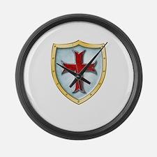 Templar Shield Large Wall Clock