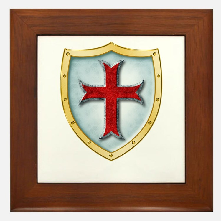 Templar Shield Framed Tile