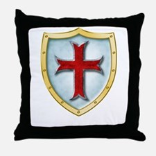 Templar Shield Throw Pillow
