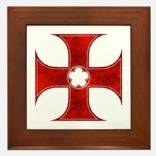 Cute Knights templar Framed Tile