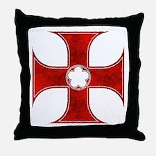 Unique Templar cross Throw Pillow
