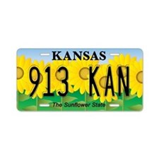 KS Sunflower Aluminum License Plate