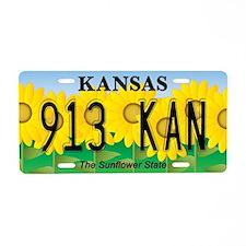 KS Sunflower Aluminum License Plate