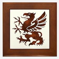 Brown Gryphon Framed Tile