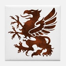Brown Gryphon Tile Coaster
