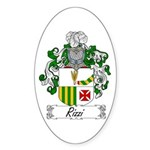 Rizzi Family Crest Oval Sticker