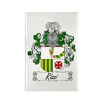 Rizzi Family Crest Rectangle Magnet (100 pack)