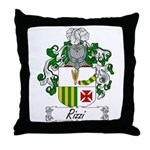 Rizzi Family Crest Throw Pillow