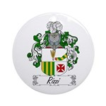 Rizzi Family Crest Ornament (Round)