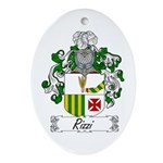 Rizzi Family Crest Oval Ornament