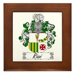 Rizzi Family Crest Framed Tile