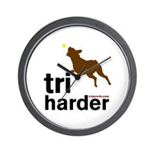 Tri Harder Boxer Wall Clock