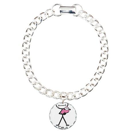 New Grandma Baby Girl Charm Bracelet, One Charm