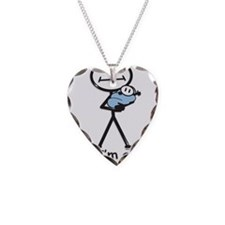 New Grandma Baby Boy Necklace Heart Charm