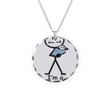 New Grandma Baby Boy Necklace Circle Charm