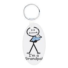 New Grandpa Baby Boy Keychains