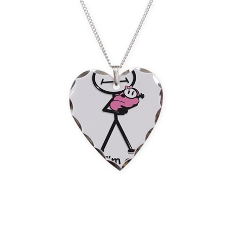 Great Grandma Baby Girl Necklace Heart Charm