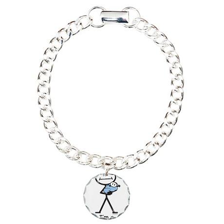 Great Grandma Baby Boy Charm Bracelet, One Charm