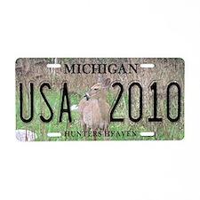MI Hunting Aluminum License Plate